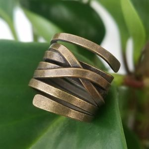 💎JUST IN! Unique Bronze Metal Coil Ring